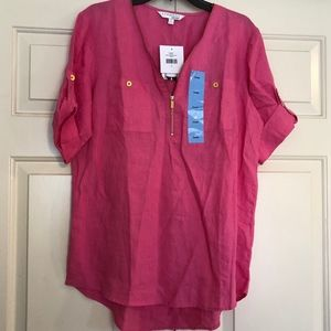 Company Ellen Tracy Linen Top - Large NWT